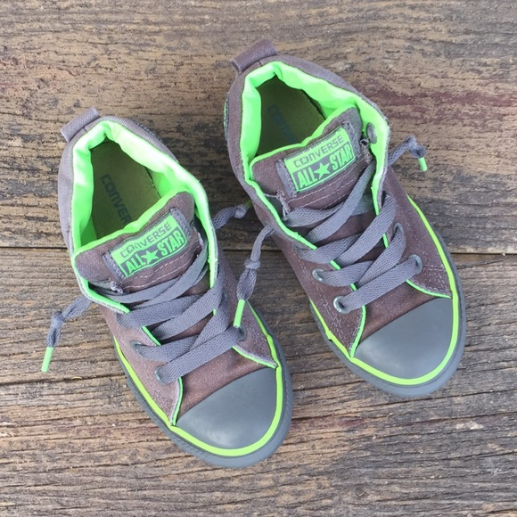 af184470191 hot grey and lime green converse 8bd26 14ab2  store conversejunior 13 mid  tops gray w lime green 92631 f73eb
